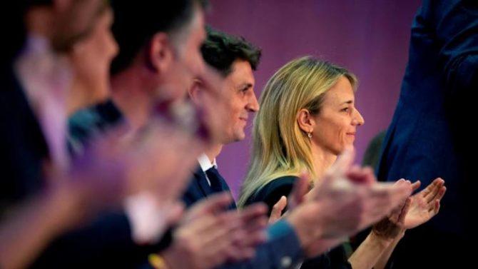 Cayetana Álvarez de Toledo número uno por el PP en Barcelona, durante el acto de presentación de listas del PPC a las Elecciones Generales del 28A.