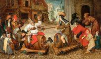 Fragmento de El combate entre don Carnal y doña Cuaresma. Pieter Brueghel el Viejo