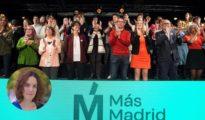 Presentación de candidatos de Carmena y Errejón por Más Madrid el pasado 16 de marzo en el Centro Cultural Lázaro Carreter. A la izquierda, abajo, María Pastor Valdés