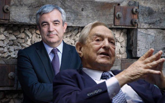 Luis Garicano (al fondo), mantiene una estrecha relación de amistad con George Soros.