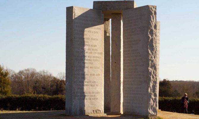 """El enigmático monumento de """"Georgia Guidestone"""" (Estados Unidos)"""