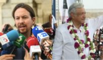 Pablo Iglesias y Andrés Manuel López Obrador