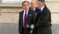 El ex delegado del Gobierno en Cataluña Enric Millo a su llegada al Tribunal Supremo, donde comparece como testigo en el juicio del procés.