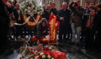 Pilar Gutiérrez, la líder de Movimiento por España, en el Valle de los Caídos