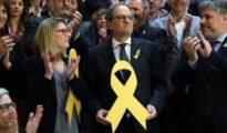 Quim Torra y Elsa Artadi con lazos amarillos