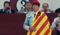 Serafín Marín, último fichaje de Vox, reivindicando el regreso de las corridas a Cataluña.