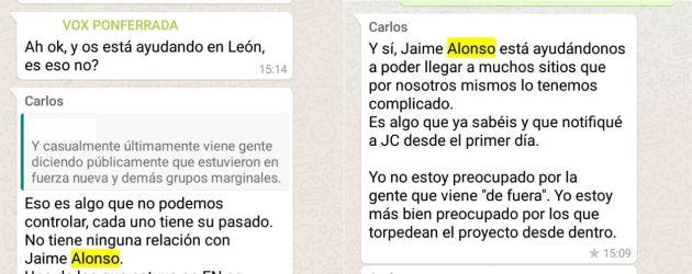 Conversación entre miembros de la ejecutiva de Vox León / Cadena SER