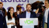 Santiago Abascal, la noche electoral.