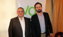 Valeriano Arrieta, junto a Santiago Abascal (Barakaldo digital)