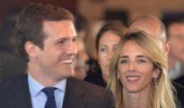 Pablo Casado y Cayetana Álvarez de Toledo, en Barcelona