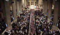 Ceremonia en la catedral de San Patricio de Nueva York.