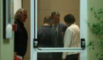 La ministra Valerio (de espaldas) charlando con Esteban (PNV), Tardà (ERC) y Campuzano (PDECat)