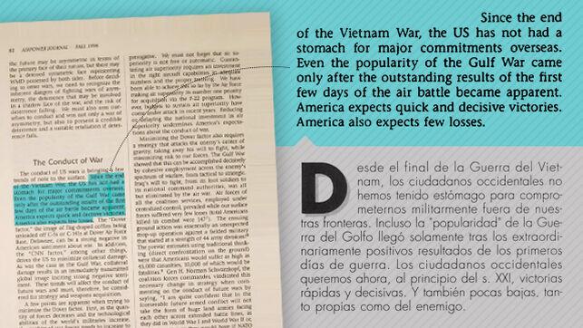 Fragmento copiado sin citar al autor en un artículo de Mestre publicado en la revista Aeronáutica y Astronáutica