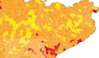Los independentistas tiñen de amarillo el mapa electoral catalán