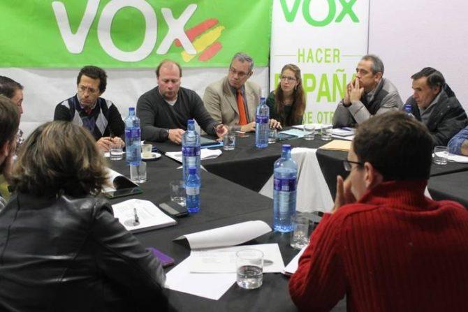 Imagen de la anterior ejecutiva del partido Vox en León - DL