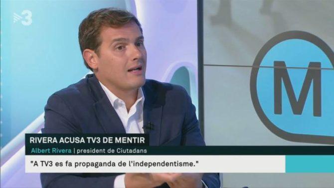 Albert Rivera durante una entrevista en TV3