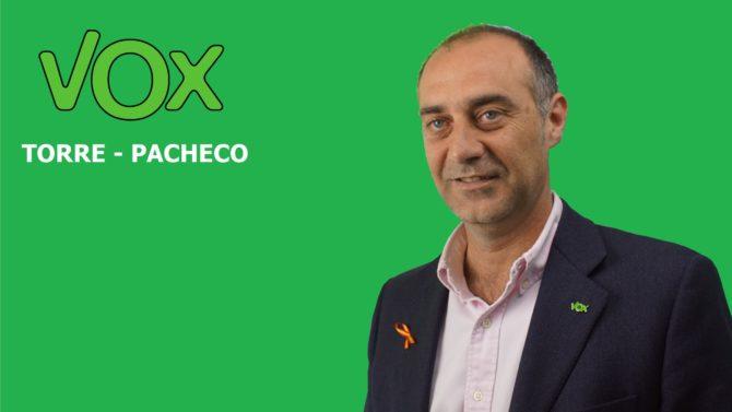 Cartel electoral del cabeza de lista de Vox a la Alcaldía de Torre Pacheco (Murcia), José Francisco Garre