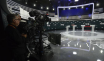 Plató del debate a cuatro ofrecido antes del 28-A