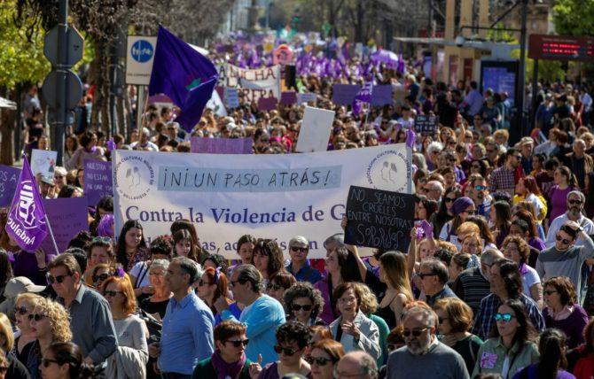 Concentración feminista en Madrid el pasado fin de semana